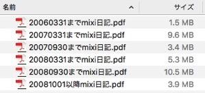 Mixi日記bkup