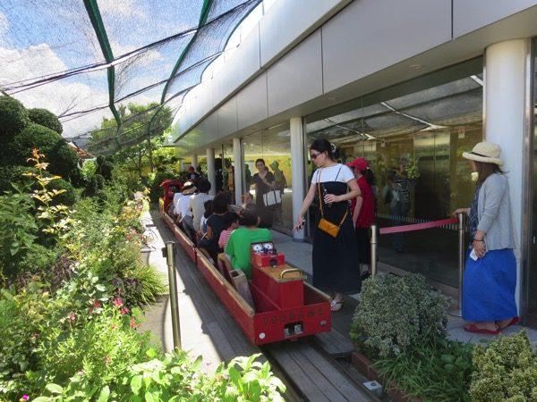 ツバメの杜広場の電車アトラクション