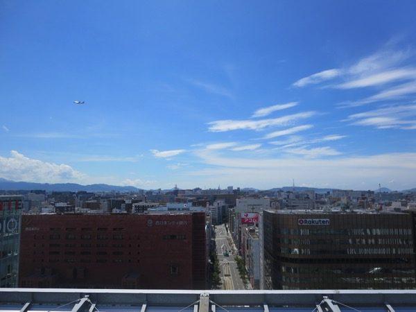 博多のアミュプラザの屋上からの風景
