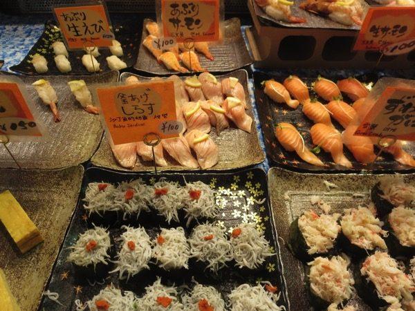 下関の唐戸市場の寿司