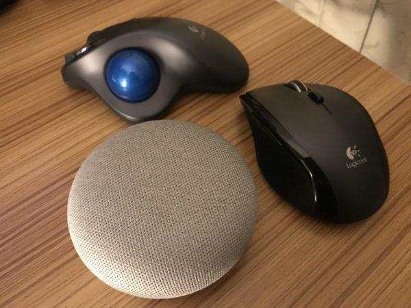 googlehomeminiはマウスと同じぐらい